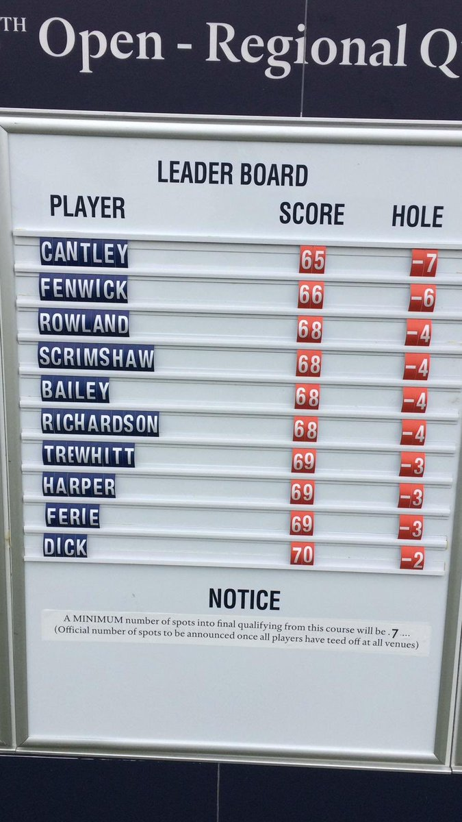 The drama is starting to unfold. 3 players (-3's) are contending for the final remaining spot in a play-off @GoswickGolfClub   Follow live blog here 👉 http://bit.ly/OpenRegionalQualifying…