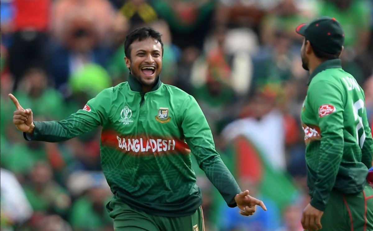 🔥 Shakib against Afghanistan... - Overs: 7 - Maidens: 1 - Wickets: 4 - Runs given: 10 Absolutely stunning stuff! #BANvAFG
