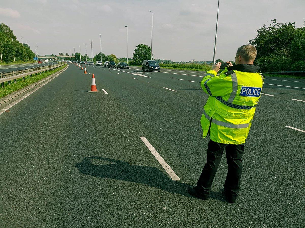 To the 97 drivers who were too impatient to abide by the red X on the M62 or who drove down the hard shoulder your notice of intended prosecution and summons will be in the post. To the other many drivers thank you for you patience and support @NWmwaypolice