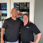 THE James Franklin, Penn St Football Coach, stopped in today at DJ's Dugout 10th & Capitol! Be sure to visit DJ's Dugout before or after the big Baseball game tonight, you just never know who you'll bump into! 👊🏈⚾️