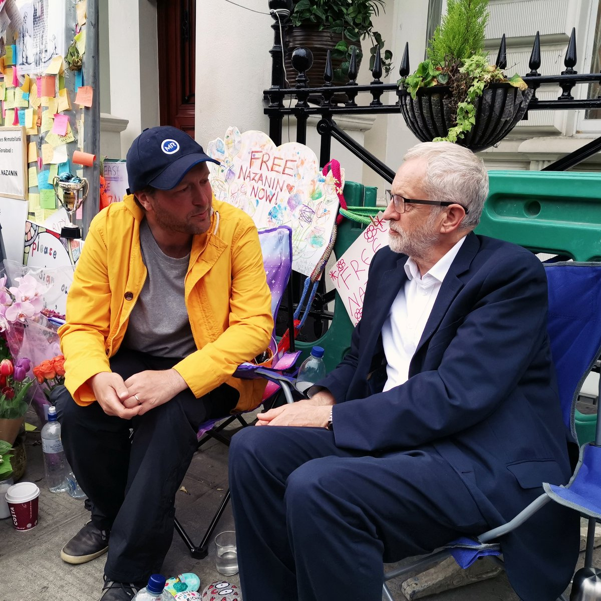 It was a pleasure and an honour to meet Richard Ratcliffe outside the Iranian embassy. I was moved by his strength, optimism and determination in the face of injustice, and his campaign for the freedom of his wife Nazanin. #FreeNazanin