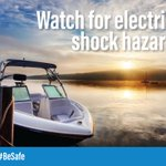 Never allow swimming near a boat, marina or launching ramp. ⛵ Residual current could flow into the water from the boat or marina's wiring, putting anyone at risk of electrical shock drownings. #BeSafe