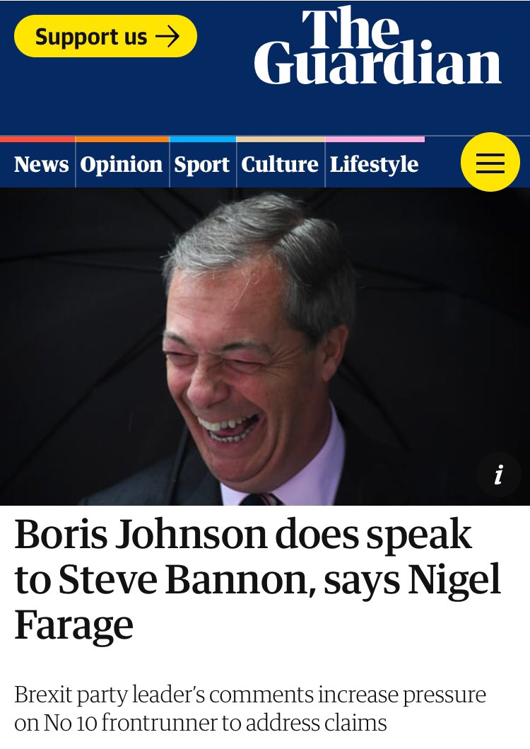 """""""Steve likes to be seen at the centre of the action. He knows Boris, he speaks to Boris. """" Oh dear. Could Johnson have...gasp...lied?"""
