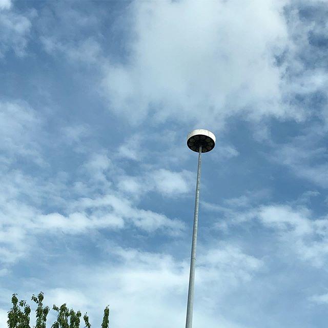 Street lights as flying saucers...Gloucester