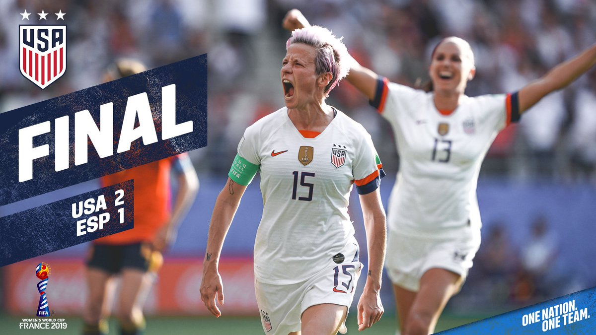 Got the job done 👊 🇺🇸  On to Quarterfinals and a matchup with host France in Paris on Friday!  #OneNationOneTeam