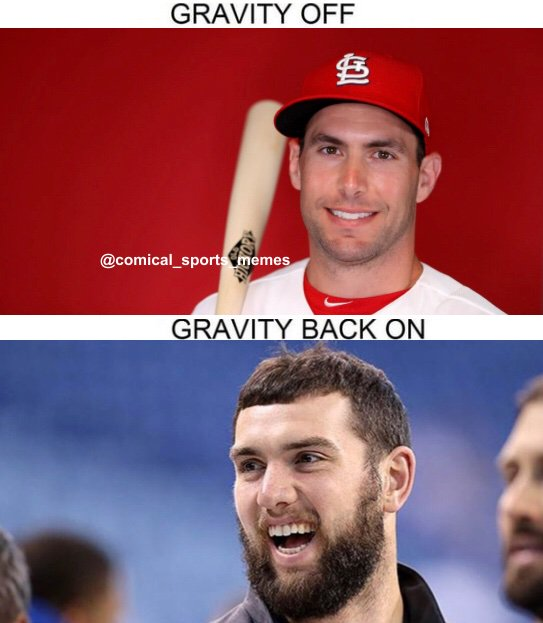 Andrew Luck is Paul Goldschmidt with a beard  #paulgoldschmidt  #andrewluck #Colts  #nflmemes #nfltwitter https://t.co/Chzlo46wz0