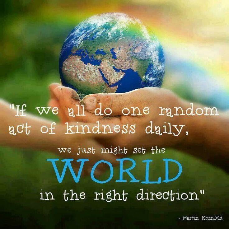 Please re-Tweet if you agree: If we all do one random act of #kindness daily, we just might set the world in the right direction.   (image via @2thank) #happiness #Alzheimers #dementia #mentalhealth<br>http://pic.twitter.com/74WSr2WIky