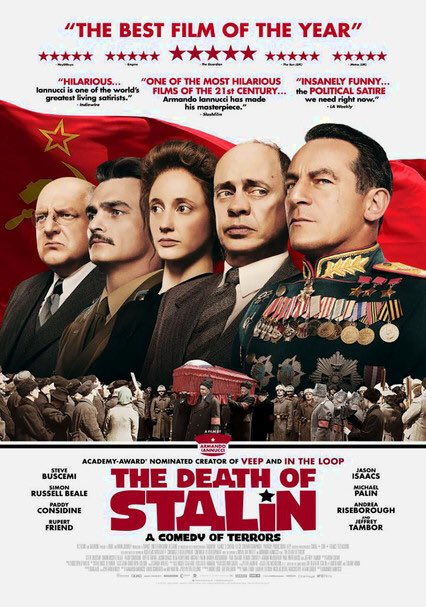 #TheDeathofStalin #ArmandoIannucci #SteveBuscemi as #NikitaKrushchev is most amusing. Everyone in the cast is so good. Entertaining satire. #Stalin #USSR