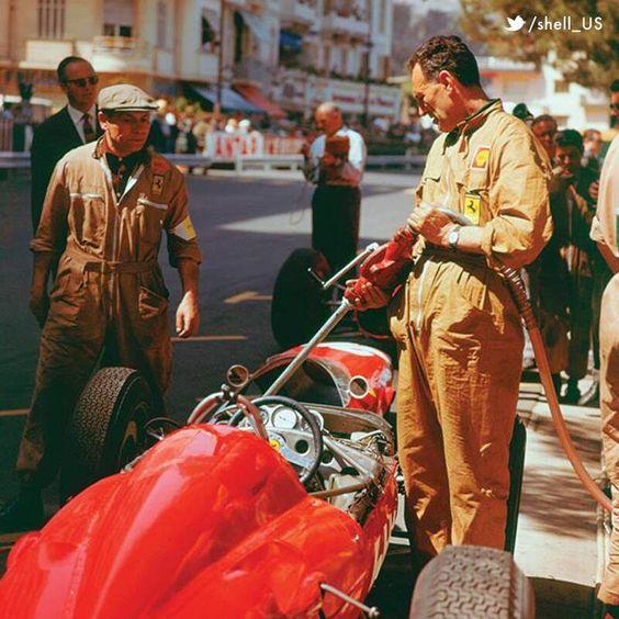 1963 #MonacoGP 🇲🇨 - Ferrari refueling 🏎  #ScuderiaFans #essereFerrari 🔴 #ForzaFerrari
