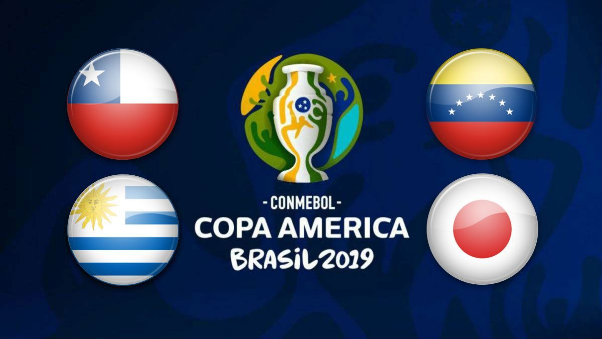 #CopaAmerica2019 - 2 Matches TODAY at 7PM! #Chile vs #Uruguay 7pm #Ecuador vs #Japan 7pm Join us for all matches!  #CopaAmericaBrasil2019 #Suarez #Cavani #Vidal #Alexis https://t.co/lzzYbQXwA2