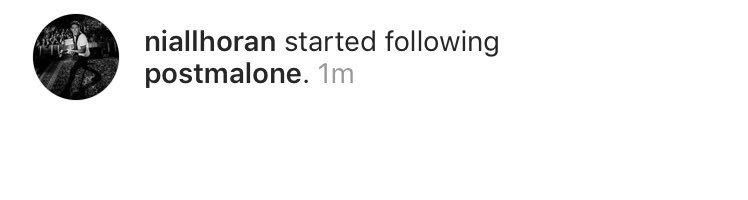 Niall started following Post Malone on Instagram! <br>http://pic.twitter.com/m7LKp4RRIv