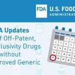 Image for the Tweet beginning: #FDA updates list of off-Patent,