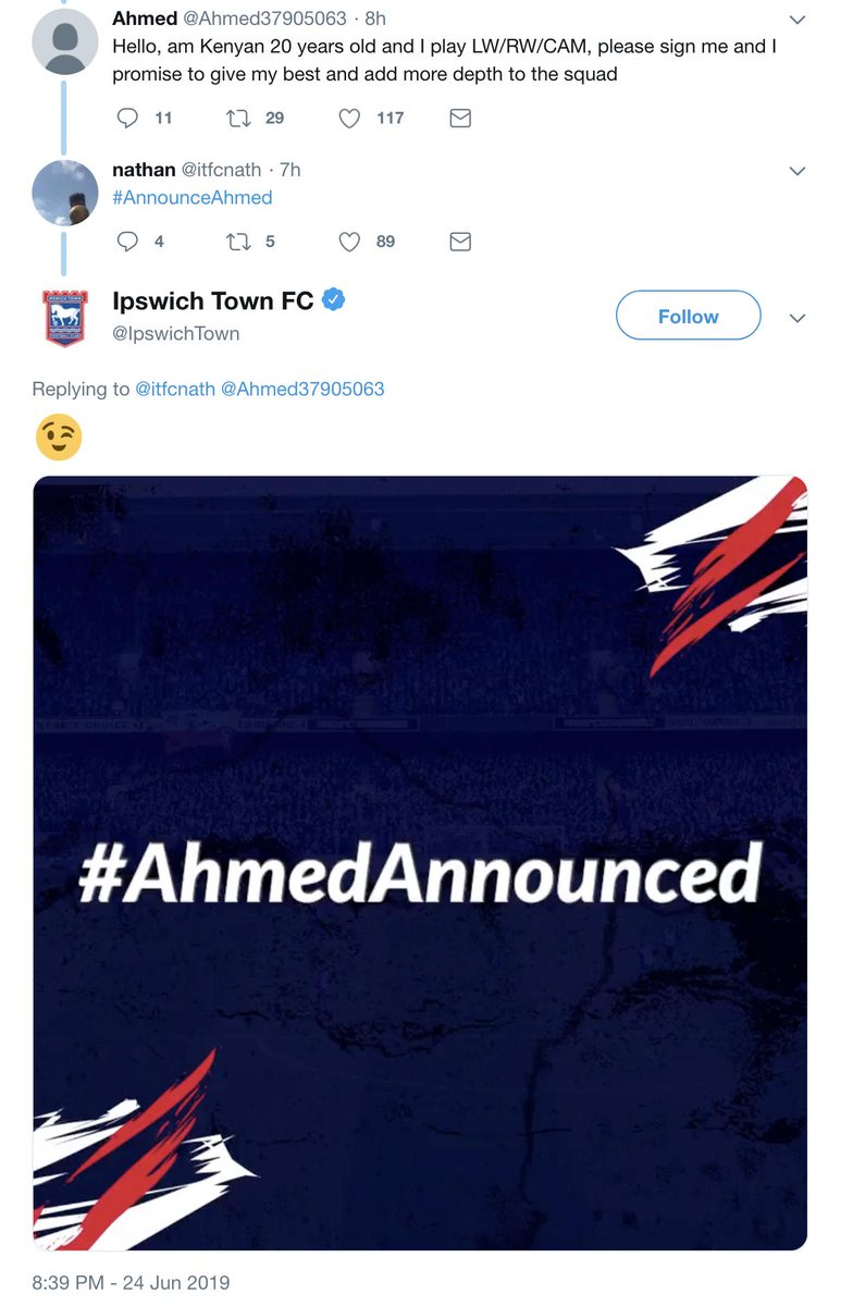 😂 Get the social guy at @IpswichTown a raise...