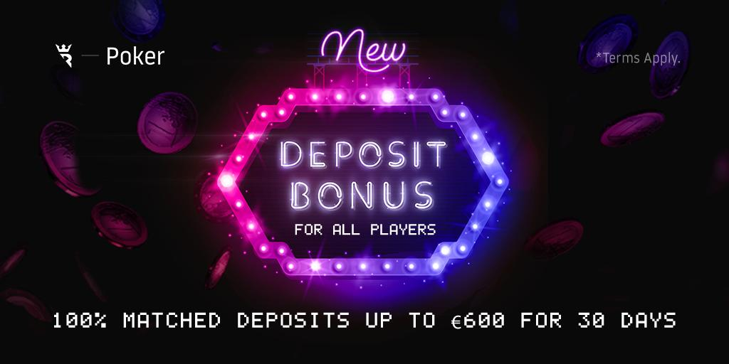 Run It Once Poker On Twitter Our New 100 Welcome Bonus Is Live We Ll Be Matching 100 Of Deposits Up To 600 For 30 Days Following Your Initial Deposit All Players Are