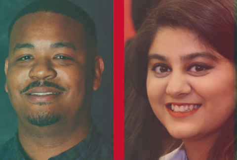 Journalism majors @itslaraaaib & @drewkjones landed spots in the @DJNF Emerging #Journalists Program this summer: 🔗 http://bit.ly/2ZEcKPW . #ValentiPride