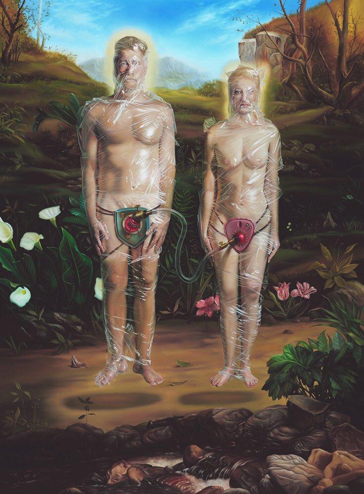Safe Sex, 48 x 36, oil on linen, 2010 a copy (for sale) #DavidBowers #Artist #Art #OilPaintings #Linen #SafeSex #Twitter #Instagram • 📩DM or contact bowersartist@gmail.com for inquiries.  https://www.instagram.com/p/BzG2hoSg7q_/?igshid=1jdq1hlsoi9or…