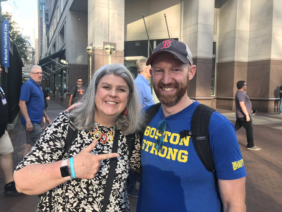 .@whalen representing at #ISTE19! #BostonStrong