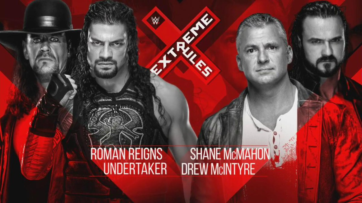 The Undertaker And Roman Reigns Vs. Drew McIntyre And Shane McMahon Set For WWE Extreme Rules