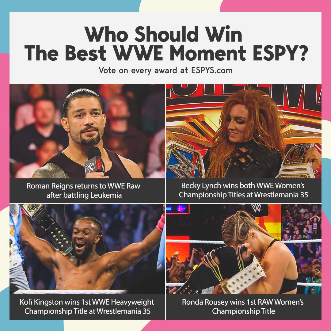 This year has been such a blessing!Help me make it official by voting for the Big Dog returning to #Raw as the best @WWE moment of the year at @espn #ESPYS!  Vote at http://espys.com now!