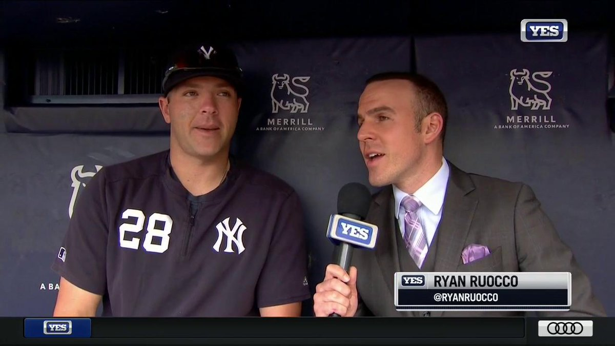 """""""I'd love to hear a soccer chant - that would be pretty cool.""""  A somewhat different expectation for the London series, and more, from Austin Romine's chat with @RyanRuocco, #YANKSonYES"""