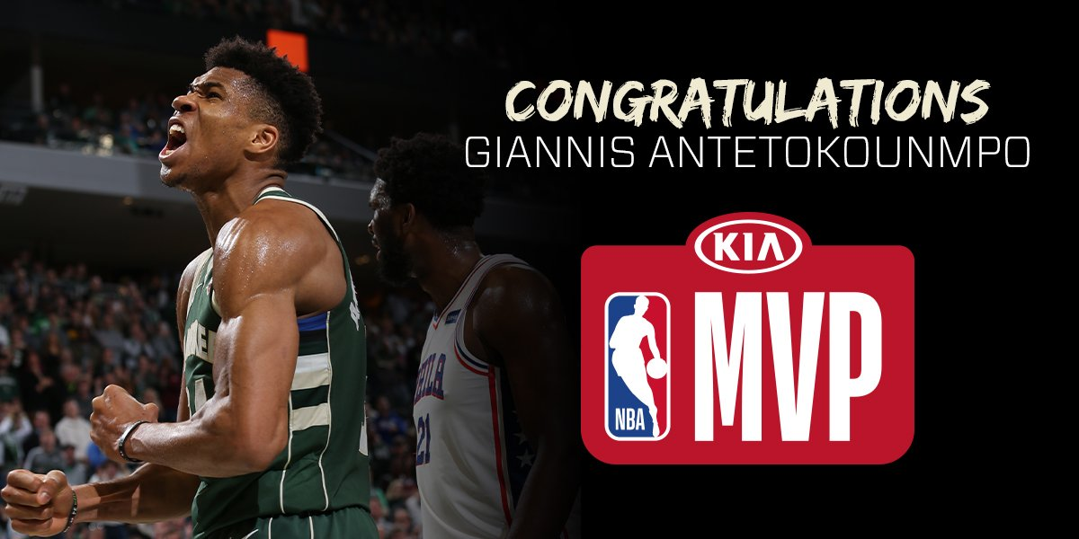 The Greek Freak is THE MVP!!   #NBAAwards