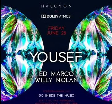 Hey #SanFrancisco, clear your Friday night plans because  @Halcyon_SF and @yousefcircus are coming in 🔥 with a 🌍 world premiere in Dolby Atmos.See you on the dance floor 🕺🏻Tix here: http://halcyon-sf.com