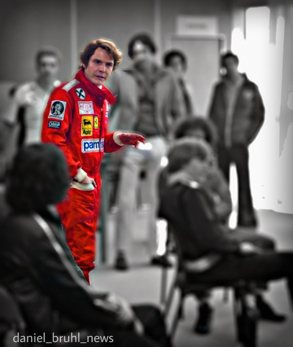 """I have the track record here. I'm the only person in history to do the ring in under 7 minutes, so actually it's to my advantage to race here today...because I'm quicker than all of you!"" #NikiLauda #Rush #moviequote #DanielBrühl #myedit #racing #legend #f1 #formulaone"