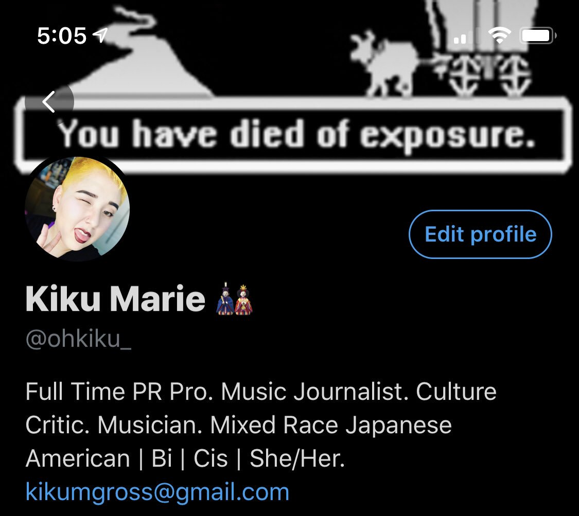 Peep the new bio, courtesy of @robynhfrost . Slowly but surely I'll stop doubting myself. Helps to have powerful as fuck women in my corner to inspire it.  <br>http://pic.twitter.com/ljUSx2HUYg