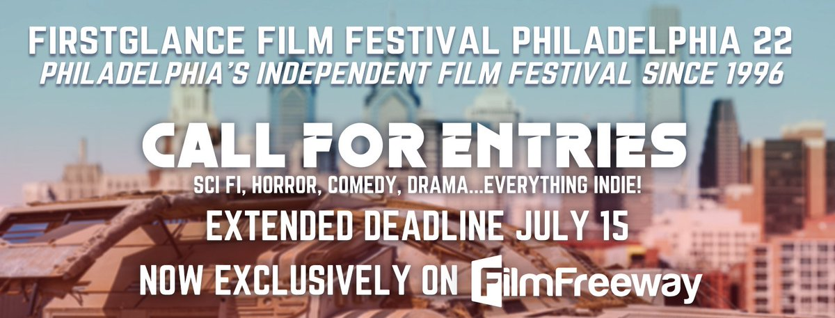 Screenings, Awards, Red Carpet and more... Final EXTENDED DEADLINE July 15 Submit your #indiefilm NOW! Drama, Comedy, Horror, SciFi @FirstGlanceFilm #Philly #FGPA22 bit.ly/FGFFCFE #SupportIndieFilm #FilmTwitter