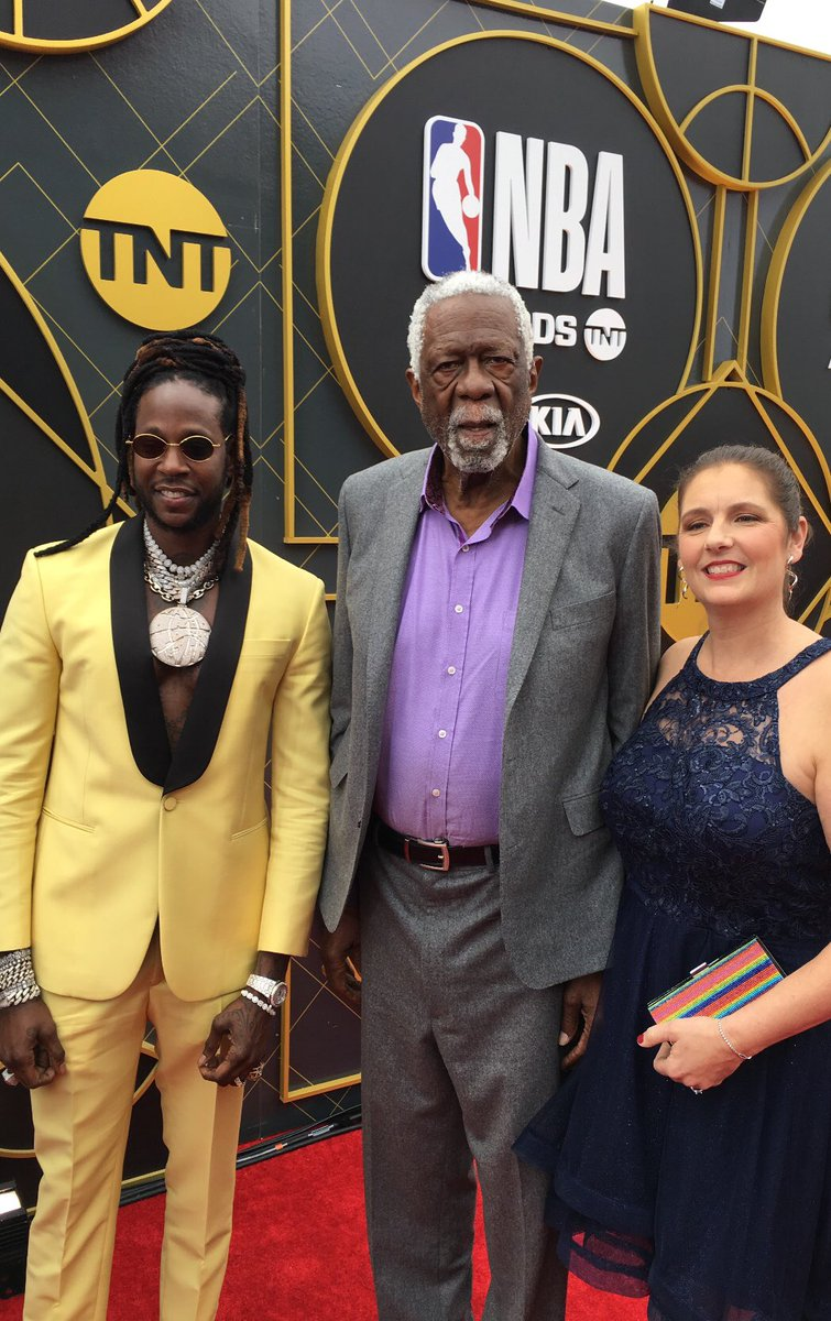 Just hanging out with @2chainz @ the #NBAAwards I ask him how much did he pay for his shirt? @NBA @NBAonTNT