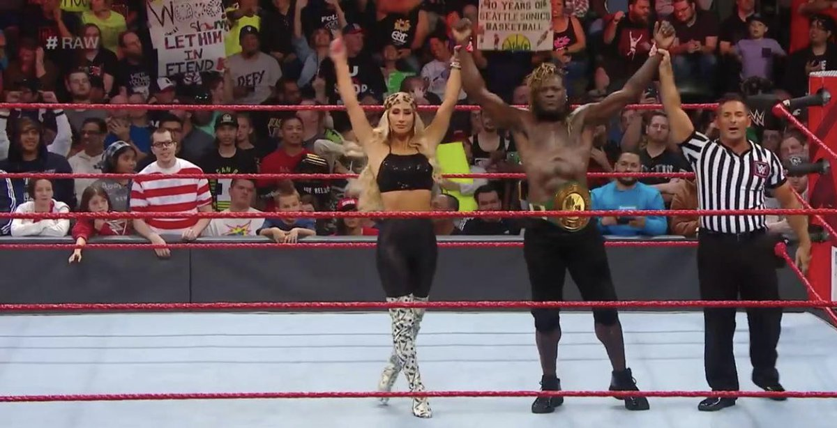#AndStill your #247Champion... @RonKillings! @CarmellaWWE #RAW
