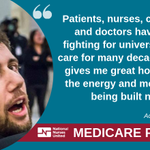 Image for the Tweet beginning: Take the fight for #MedicareforAll