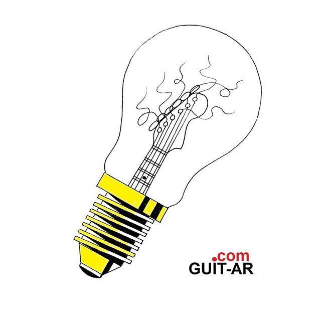 💡 Light bulb guitar by Juan Ponte. #light #lightbulb #electricity #yellow #blackandyellow  #psychedelic #guitarra  #guitar #guitarbyjuanponte  #creative #illustration  #guitardrawing #sketch #art #artwork  #popart #surrealguitar #absurd #surrealism #… http://bit.ly/2NetvA2