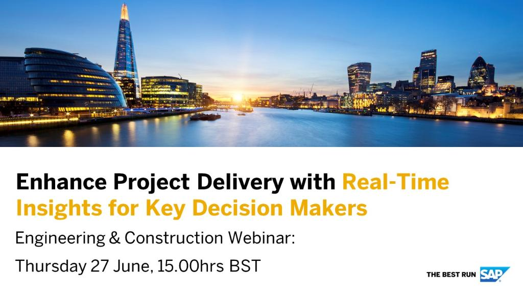Join us on for this industry webinar for insights into how leading engineering and construction firms are embracing digital technologies for successful project delivery and competitive advantages with #SAP solutions. Register here: http://sap.to/6012EqPLI