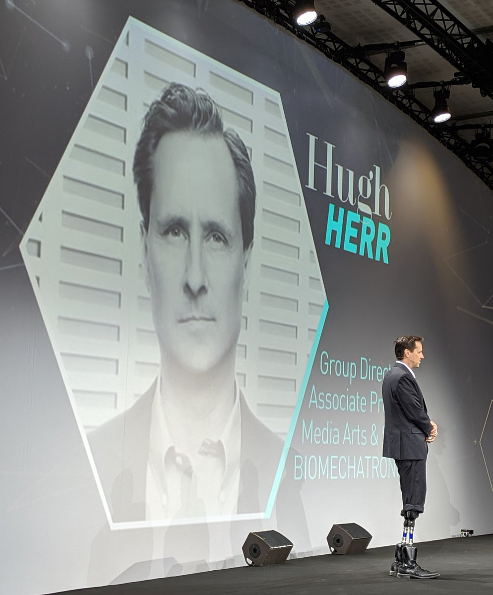 Starting my day with one of my #heros, @hughherr here at #USI2019 . Hugh has inspired me #physically, #technically and #mentally for years 👊 #climbing #innovation #augmentedhumans #beyondhandicap #bionics