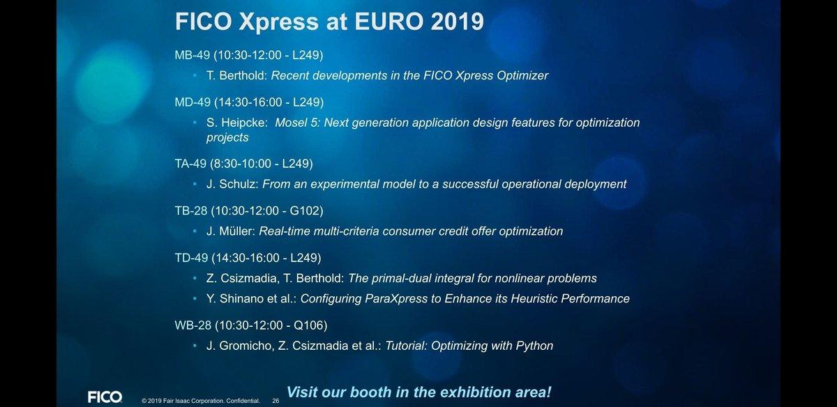 FICO Xpress Optimization (@FICO_Xpress)   Twitter