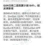 Image for the Tweet beginning: #QunQun #QUNPriceUpdate [QUN accumulated a total