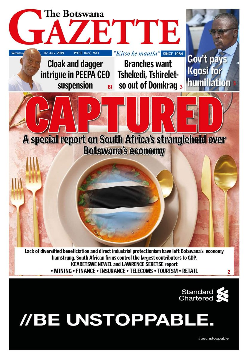 📸| This week's @gazettebw front page.  #BW🇧🇼Newspapers https://t.co/HkoHKvqQjf