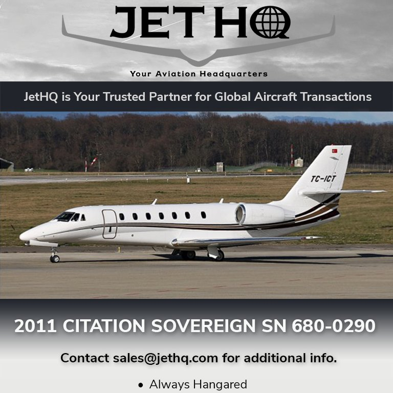 2011 #Citation #Sovereign available at @JetHQAv  Always hangared EU OPS certified More details at: http://ow.ly/6VtR30oZWMG   #bizjet #bizav #aircraftforsale #privatejet #privateflying #jetforsale #businessaviation