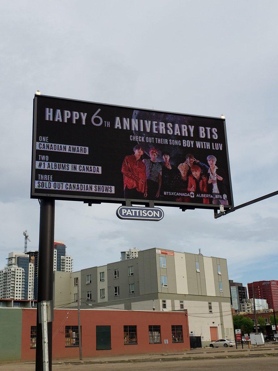 Glad I got to see the @BTS_twt YEG billboards  #BTSLuvFromCanada #6YearsWithOurHomeBTS #BTS6thAnniversary  @Alberta_BTS @BTSxCanada<br>http://pic.twitter.com/9dSdlrdsEn