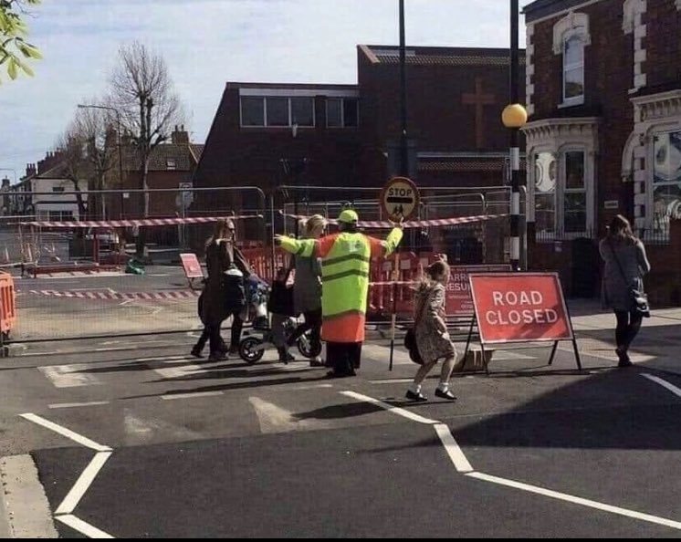 Not the sharpest lollipop lady in Bexley..