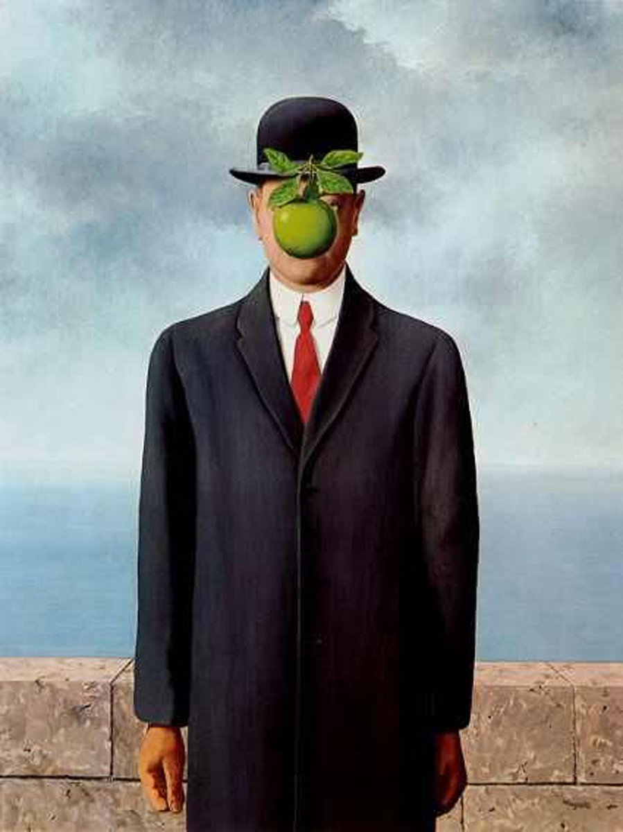 Identity is a mirage #magritte #surrealism