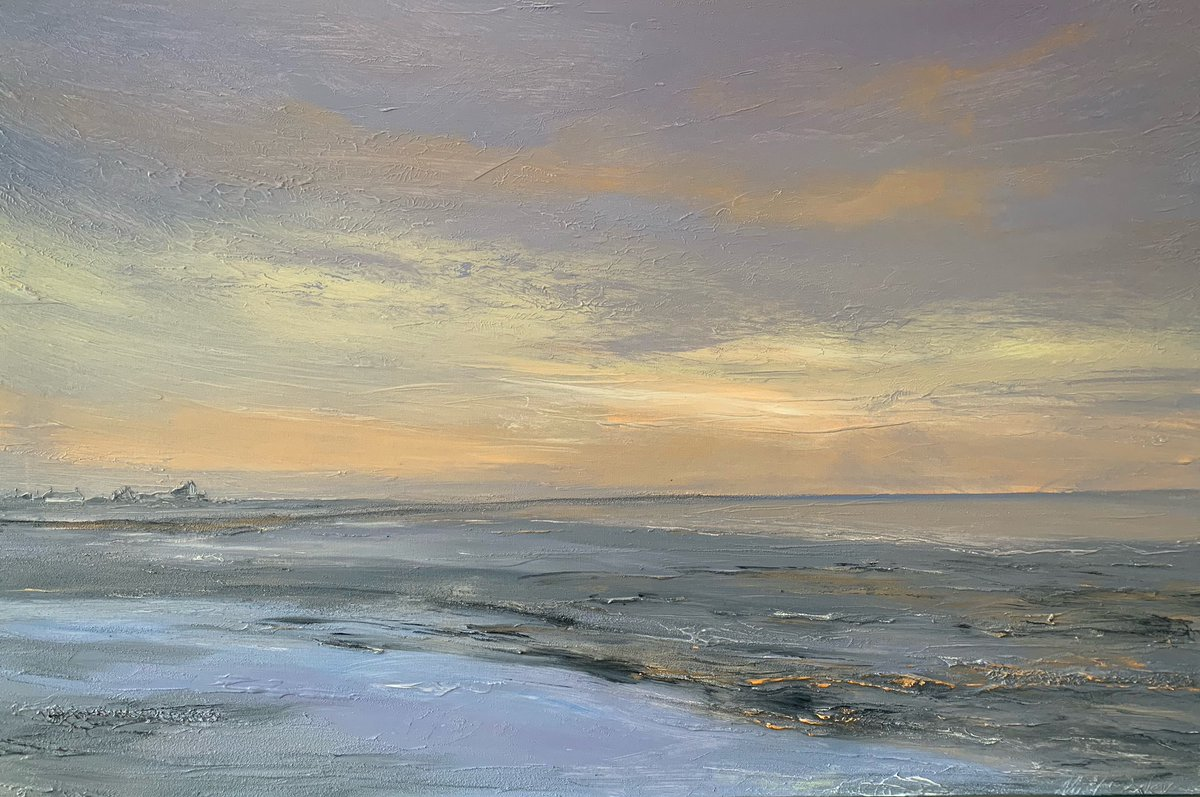 Elements: Boulmer, January Morning. 100x80x4 cm canvas, now in gallery. Open  at 10.00 <br>http://pic.twitter.com/NpcVWQsopl