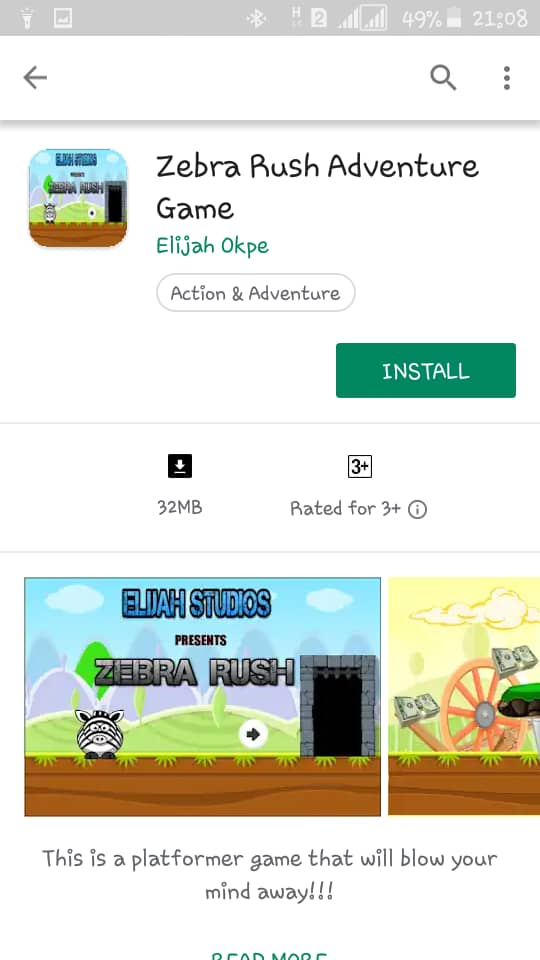 So my 11 year old just got his app published on Google play store. Kindly download Zebra Rush. Retweet, pretty please.