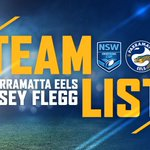 Image for the Tweet beginning: Eels Jersey Flegg Team List