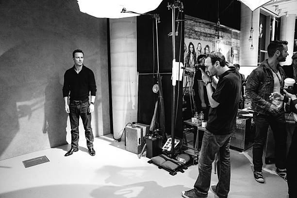 Wonderful image! #Amazing!!!! (Image has been converted to black and white) #MichaelFassbender  for a #portrait with photographer #JeffVespa #TIFF 2013 #Toronto (Photo by Mike Windle/Getty Images)#Magneto📸