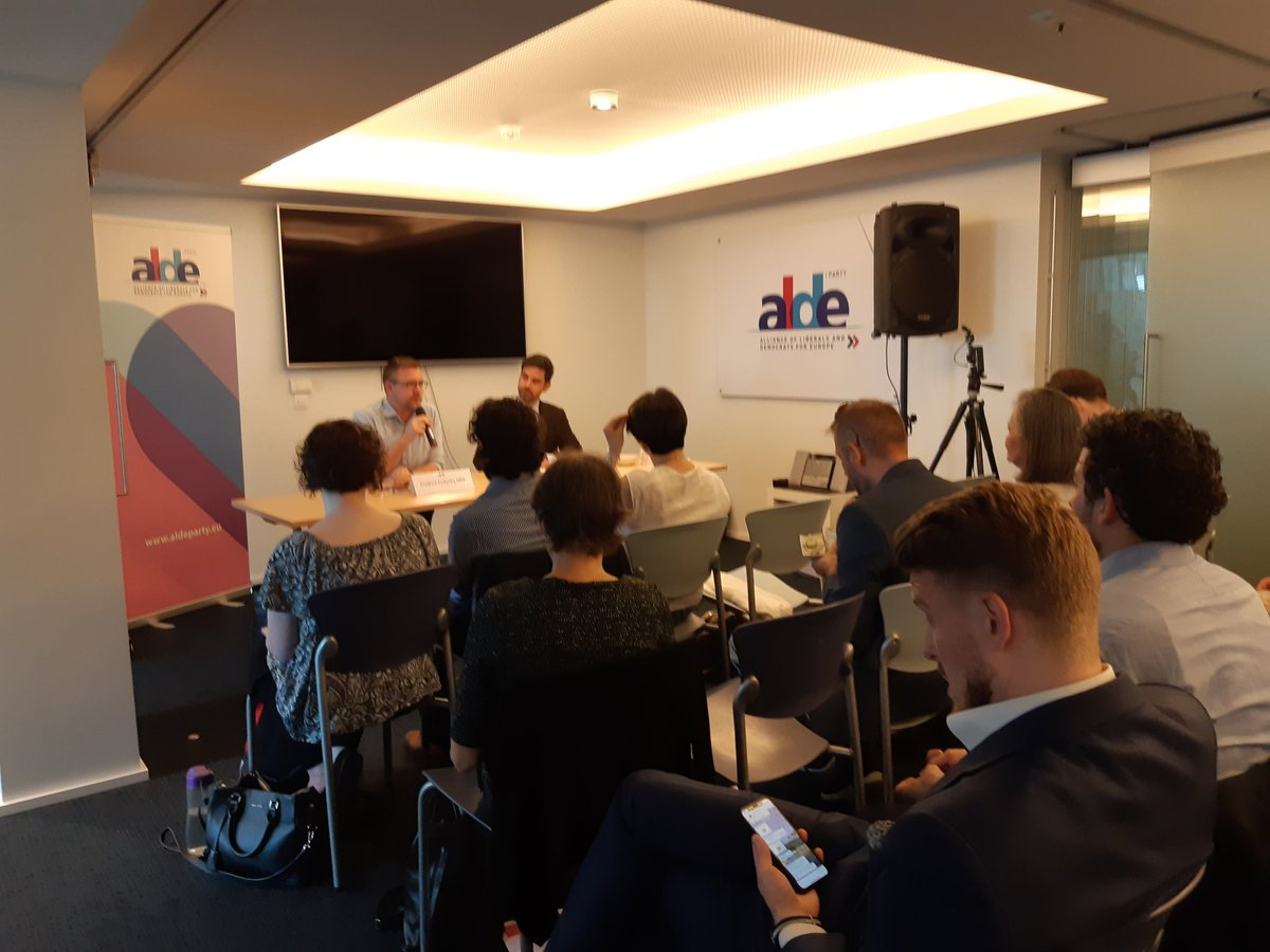 Todays Liberal Breakfast with @federley on #EUelections2019 is on full swing! Join us on #Facebook for a live session. #ALDEParty