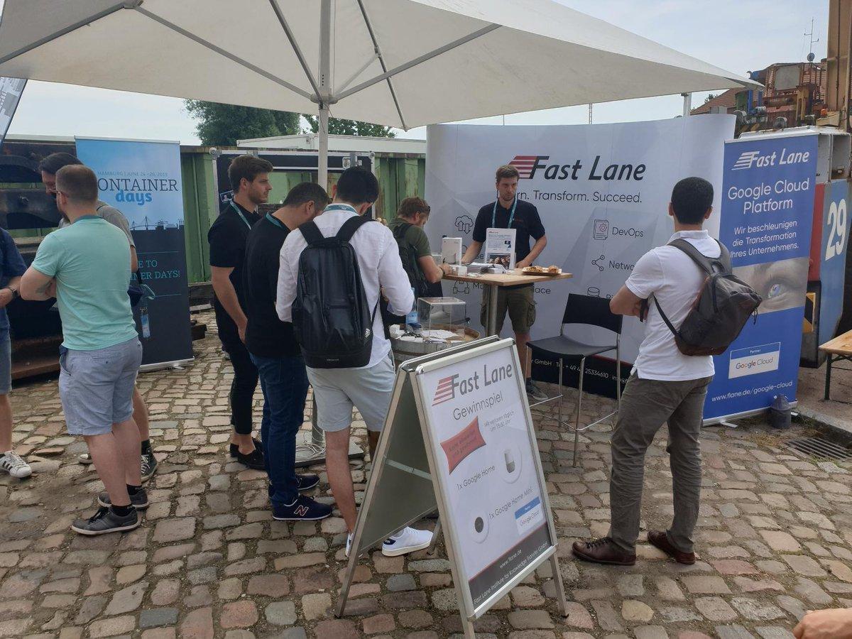 Fast Lane bei den ContainerDays 2019 in Hamburg - Super Team! #containerdays2019 #Fastlane #IT #kubernetes #Hamburgmesse #Devops #Cloud #Microservices    http://www.flane.de @GoogleCloud_DE @gcloudpartners @googlecloud