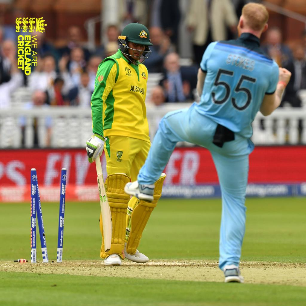 Get in @benstokes38!! 👏Scorecard: http://ms.spr.ly/6016TKYOg #CWC19 #WeAreEngland #ExpressYourself