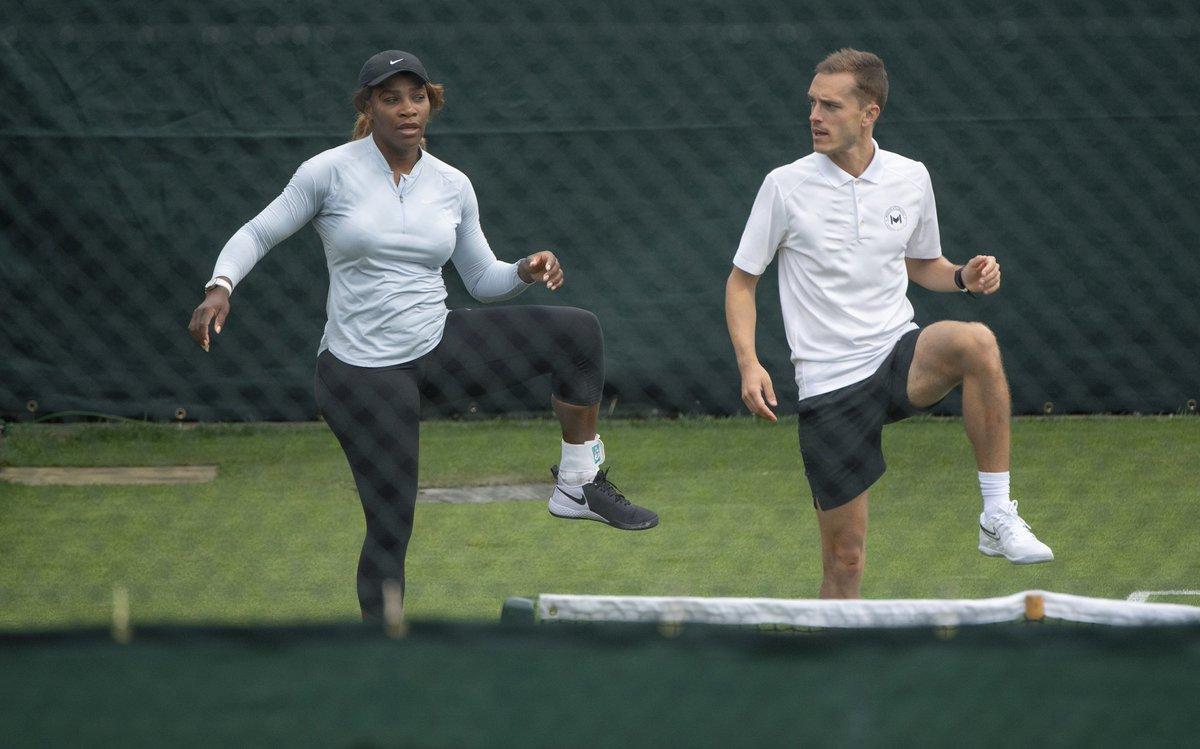 First practice on the #Wimbledon  grass courts!  <br>http://pic.twitter.com/DFVt79hbrj